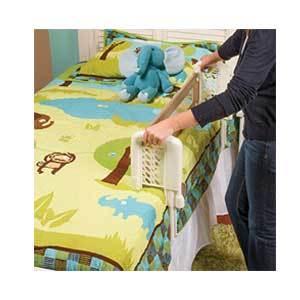 Toddler co-sleeping bed rail: Safety 1st Top-of-Mattress Bed Rail being fitted